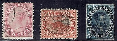 Canada #14-15 F-VF used stamps