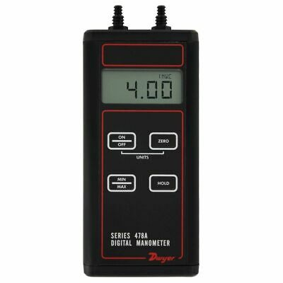 Dwyer 478A-0 Digital Differential Manometer (-4 to 4w.c.).