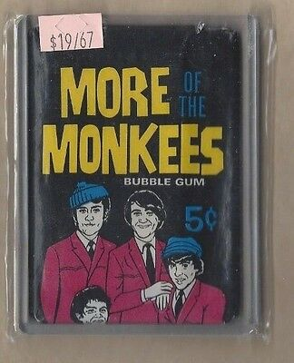 x-rare 1967 donruss more monkees unopened-sealed wax pack