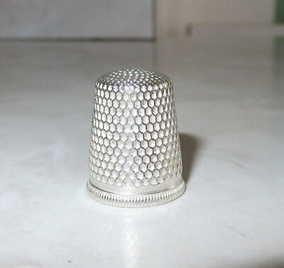 Antique Waite Thresher Sterling Silver Size 9 Thimble