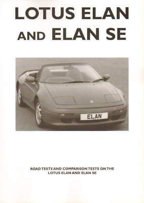 Lotus Elan & Elan Se Road Test Book. Unique. 1989/90