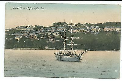 """SCOTLAND - WEST NEWPORT FROM THE """"MARS""""  Postcard"""