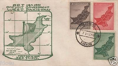 Pakistan Fdc 1955 & Stamps Unification Of West Pakistan Kashmir Disputed MNH