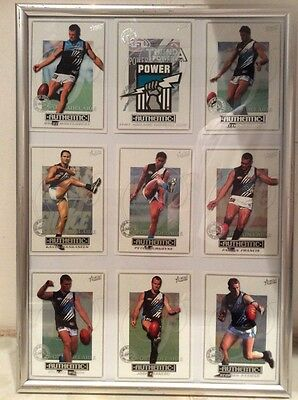 PORT ADELAIDE AUSTRALIAN RULES FOOTBALL OFFICIAL 2001 Framed Collector Cards
