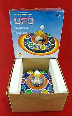 Super Blowing Ball Series Ii Ufo Tin Toy Flying Saucer Space Robot