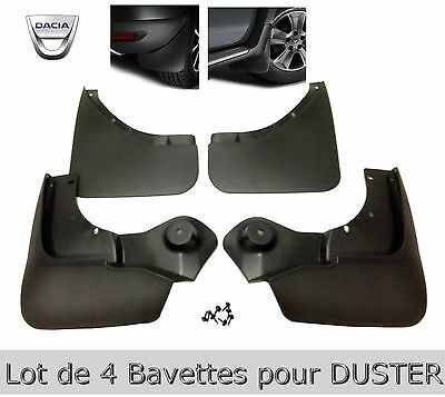 4-Bavettes Dacia DUSTER-+kit  fixation.