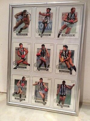 COLLINGWOOD 2 AUSTRALIAN RULES FOOTBALL OFFICIAL 2001 Framed Collector Cards