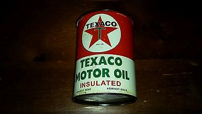 "Retro/ Style Collectible Metal Oil Can ""texaco"" Red Star Gas/garage/auto"