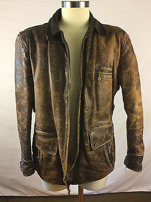 Vintage horsehide leather jacket