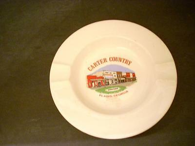 Vintage Plains Georgia Ashtray Carter Country Home Of Jimmy Carter (A19)