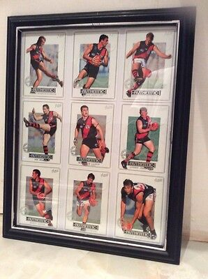 ESSENDON BOMBERS2 AUSTRALIAN RULES FOOTBALL OFFICIAL 2001 Framed Collector Cards