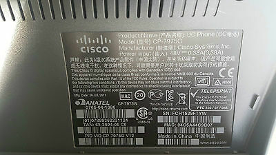 Cisco 7900 Series 7975 Cp-7975G  Unified Business Ip Phone