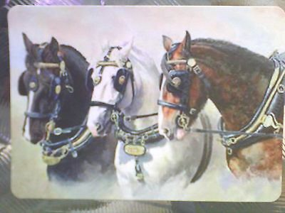 Horse Swap Card Single- Wide Beautiful Team Of Carriage Horses.#124
