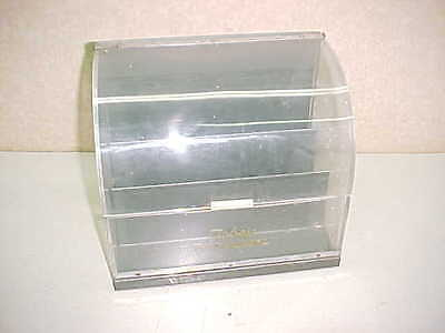 Vintage Metal & Lucite Curved Front Store Display Case