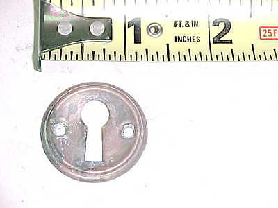 Vintage Antique Old Solid Brass Round Escutcheon Keyhole Key Hole Cover