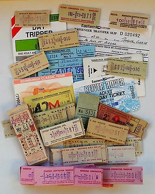 Assortment of Scottish Bus Tickets