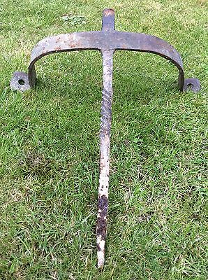 Rare 18th 19th Century Wrought Iron Boot Scraper Wall & Floor Mounted 16th 17th