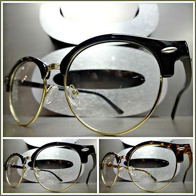 911ed6bacfc Men s Women CLASSIC VINTAGE 50s RETRO Style Clear Lens EYE GLASSES Fashion  Frame