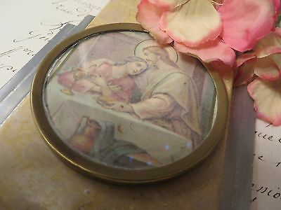 Beautiful Vintage French Wall Plaque With Holy Water Benitier Font