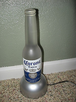 2003 Corona Extra Beer Color-change LED Lighted Frosted Glass Bottle Display