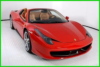 2014 Ferrari 458 Base Convertible 2-Door 2014 FERRARI 458 SPIDER, ONE OWNER, FERRARI APPROVED, 790 MILES, WELL OPTIONED!