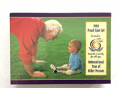 1999 Proof Coin Set - International Year Of Older Person - Australia