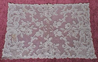 Antique French Alencon Lace Placemat Lot Of 6