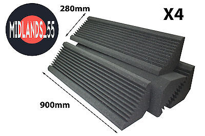 4 Professional Acoustic Foam (900mm) Bass Traps Sound Treatment BT900