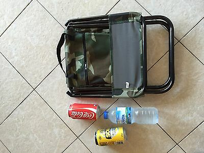 Army Colour Outdoor Fishing/ Camping Stool With Storage Bag
