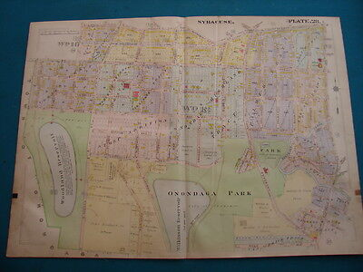 Antique Map Of Syracuse NY- 1908 - Onondaga Park & Bellevue Ave.  .- Plate 28
