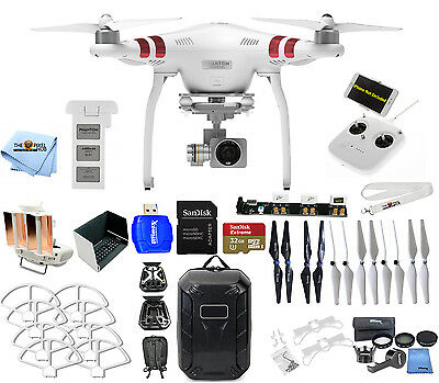 DJI Phantom 3 Standard with 2.7K Camera! PRO READY TO FLY MEGA ACCESSORY BUNDLE!