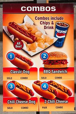 Dairy Queen Promotional Poster For Backlit Menu Sign Chili Cheese Hot Dogs dq2