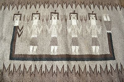 1920's-30's Native American Navajo Yei Rug New Mexico