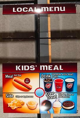 Dairy Queen Promotional Poster For Backlit Menu Sign Kids Meal dq2