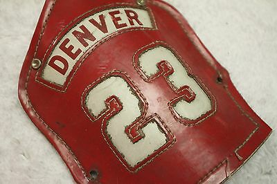 Active Denver Fire Department - Helmet Front Shield - Engine #23 - Red