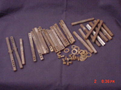 Lot of 27 Door Knob Spindles Mixed Lot plus Set Screws, Washers