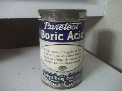Vintage Puretest Boric Acid  Estate Find