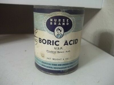 Vintage Nurse Brand  Boric Acid  Estate Find