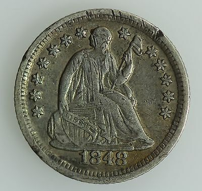 1848 O Seated Liberty Dime! Xf Details! 10C! Us Coin Lot #177