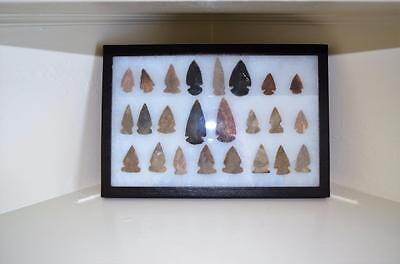 Framed Collection of California Native American  Arrow Heads (No Reserve)