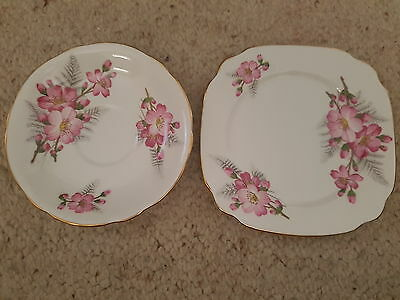 WINDSOR - Bone China Saucer & Side Plate, Made in England