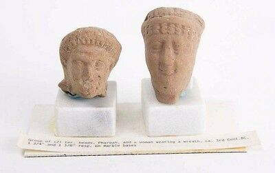 Lot of 2 Roman Egypt Terracotta Heads c.2nd century AD.