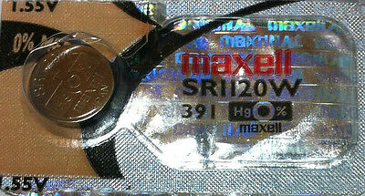 Maxell Original Hologram Packaging Watch Battery Cell 391 SR1120W From Canada