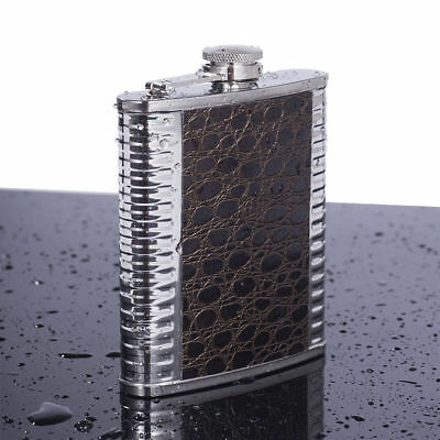 Hot Fashion Portable PU Leather 7oz Stainless Steel Hip Flask Personalized Flask