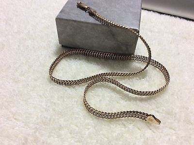 VINTAGE WIDE SILVER CHAIN 18'' Marked 925