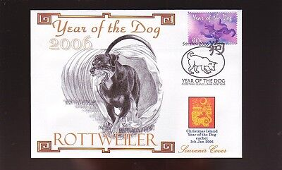 Rottweiler Souv Cover, 2006 Year Of The Dog Stamp 2