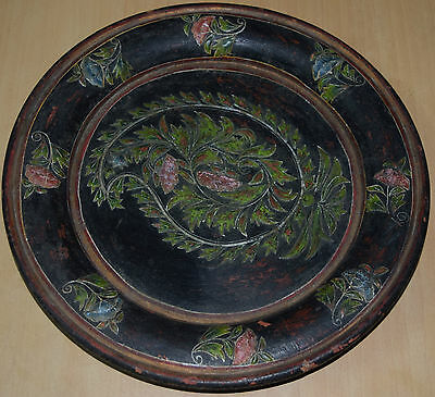 India Vintage Decor, Wall Hanging, Embosed Painting  On Wooden Tray #at147