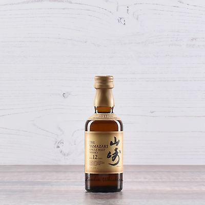 Suntory Yamazaki 12 Year Old Single Malt Japanese Whisky * Rare 50ml Miniature!