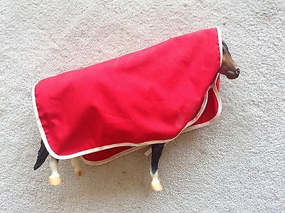Retired Breyer Horse Accessory Blue Red Show Cooler Blanket #3940 Traditional