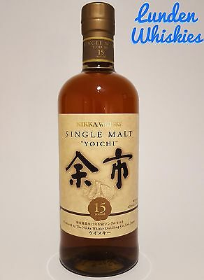 Nikka Yoichi 15 Year Old Japanese Single Malt Whisky 45% 700ml DISCONTINUED!